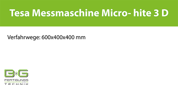 Tesa Messmaschine Micro- Hite 3 D